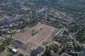 Fabryka Polmerino po wyburzeniu.