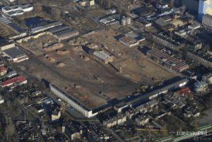Fabryka Polmerino po wyburzeniu