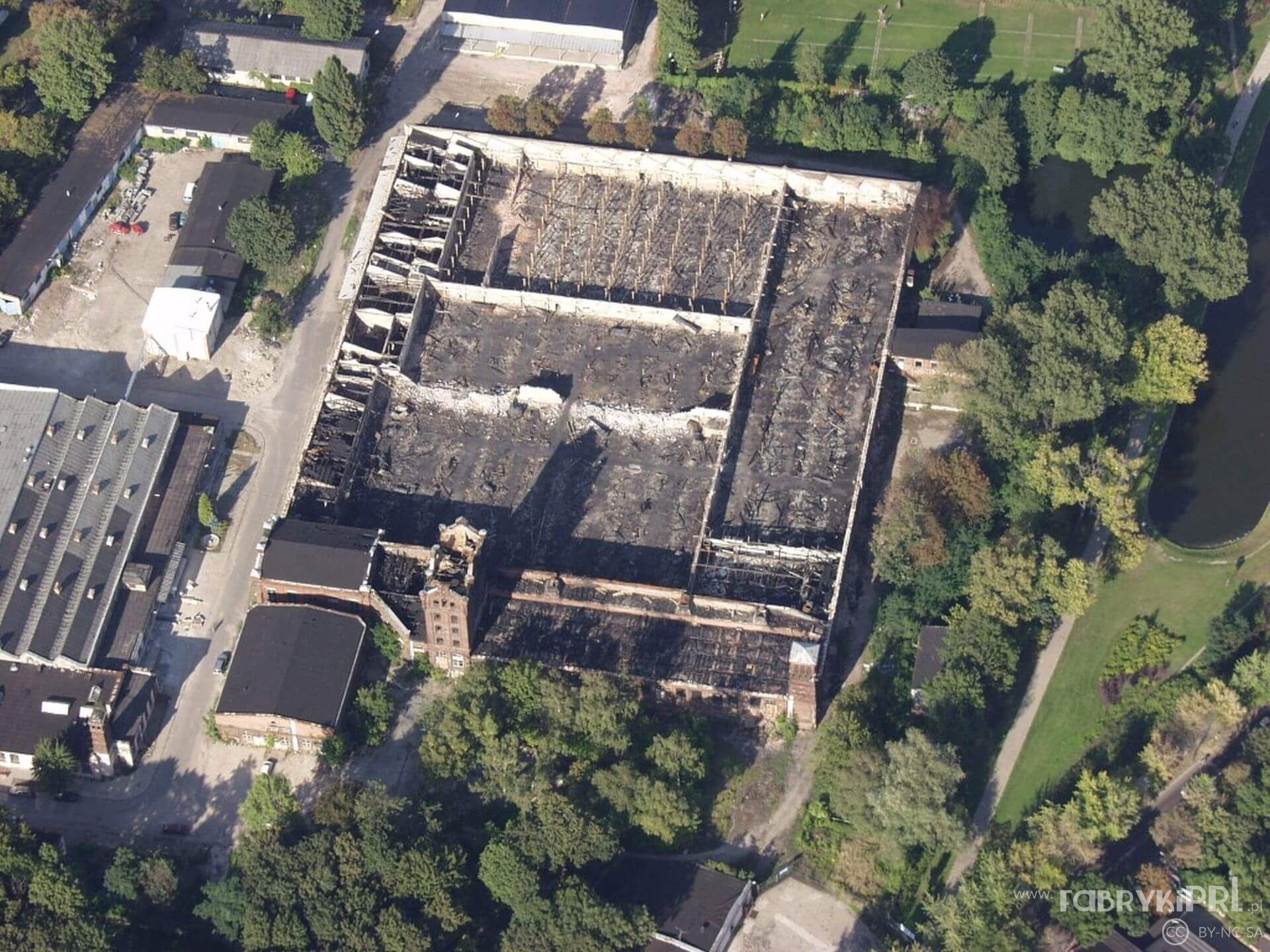 Ruina zakładów Rena-Kord, dawnej fabryki Biedermana.
