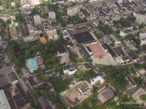 Zakłady Olimpia i okoliczne zabudowania przy ul. Piotrkowskiej. Widok w kierunku zachodnim.