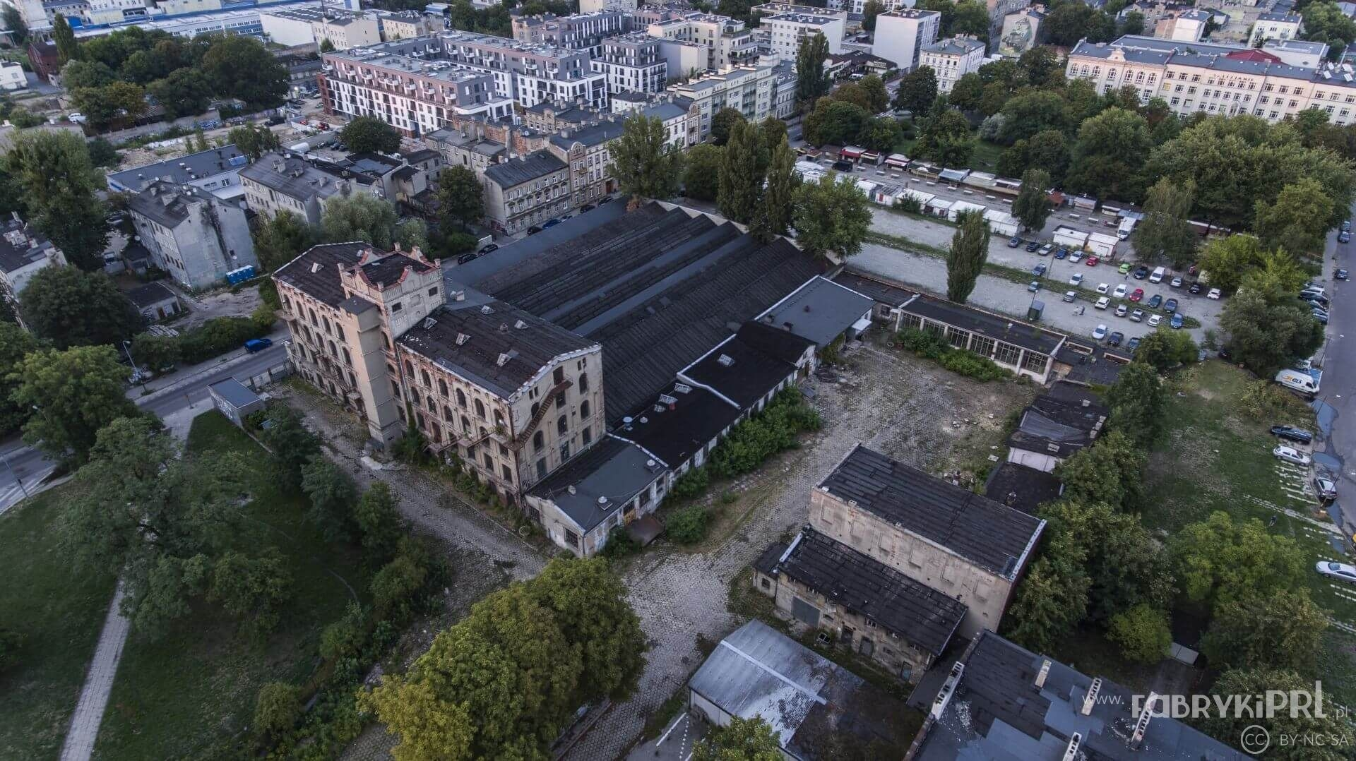 Zakłady Iwona - dawniej fabryka Jarocińskich. Zdjęcie lotnicze